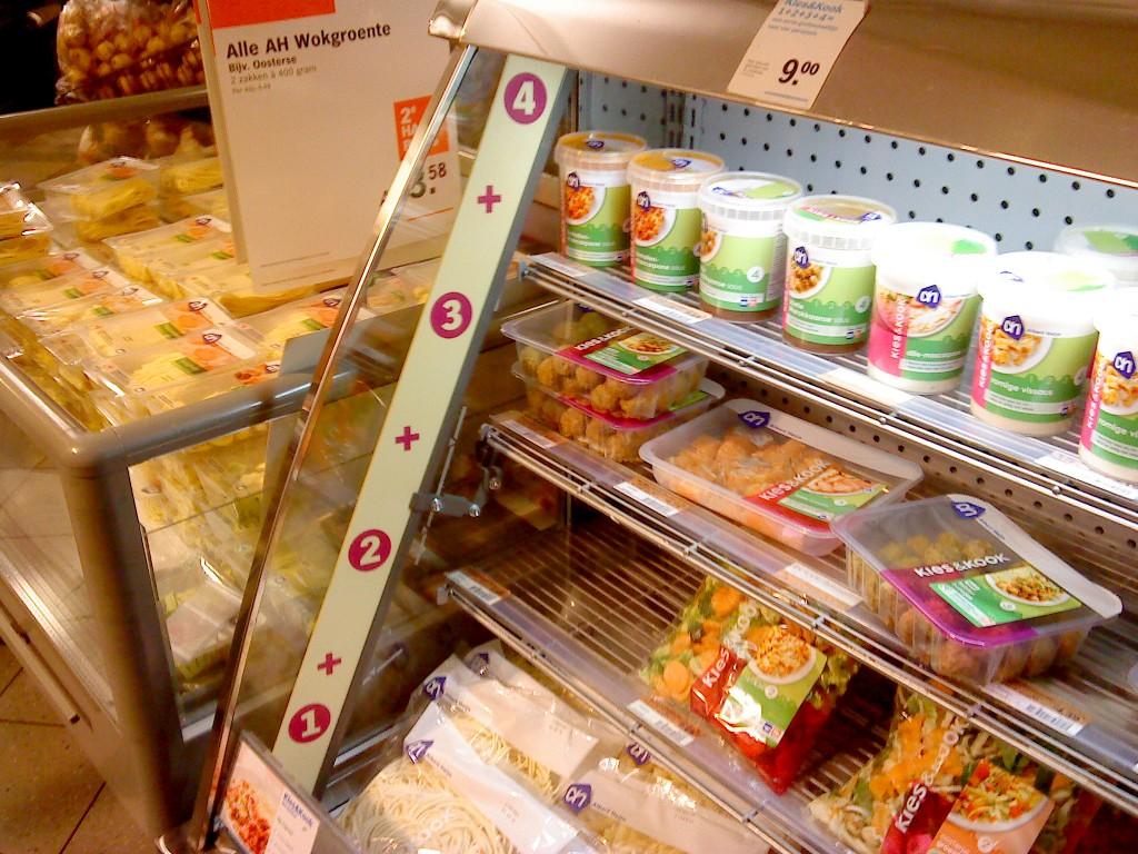 Pakketvoordeel shelves in AH