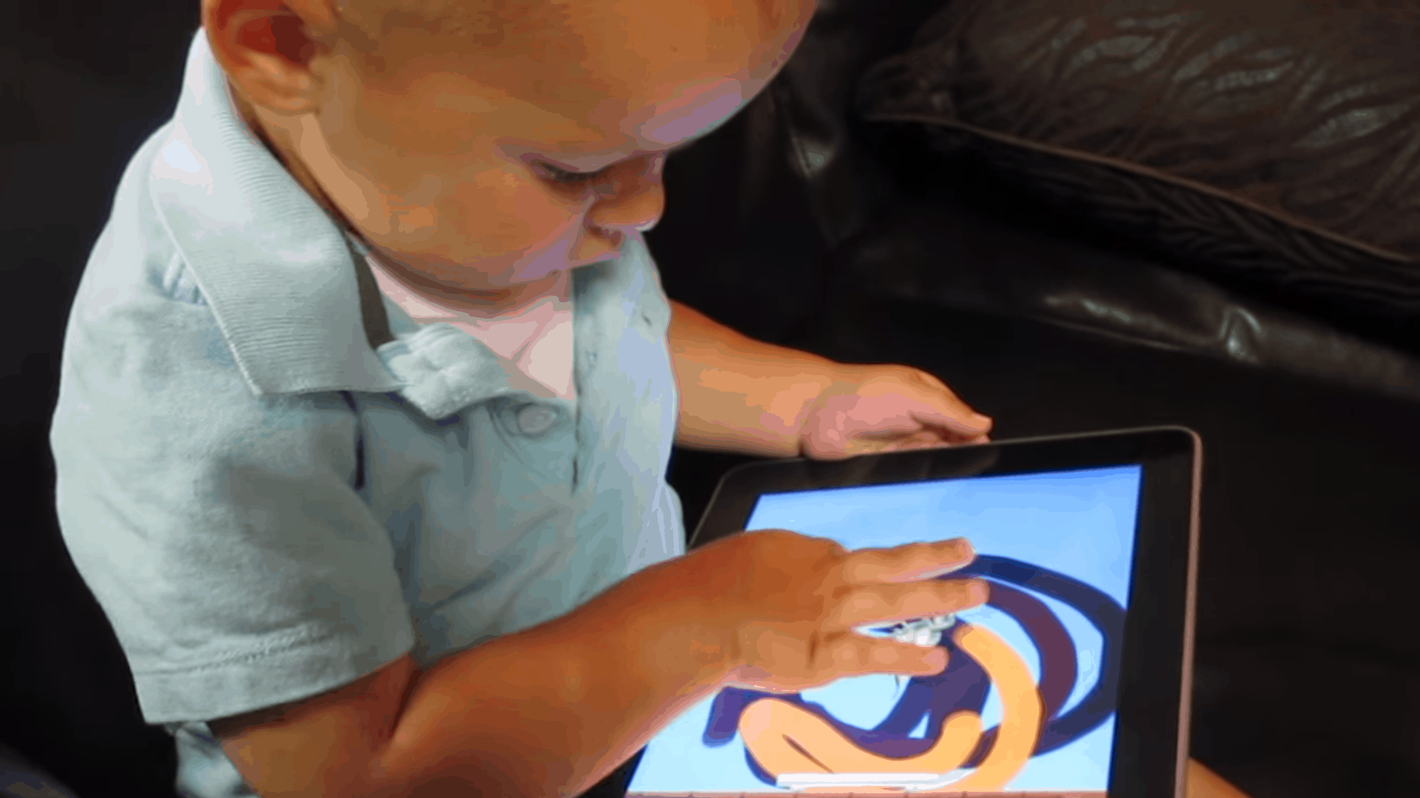 2-Year-Old Uses an iPad