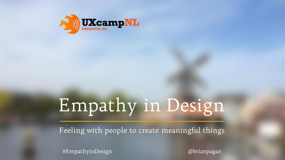 Empathy in Design, UX Camp 2014