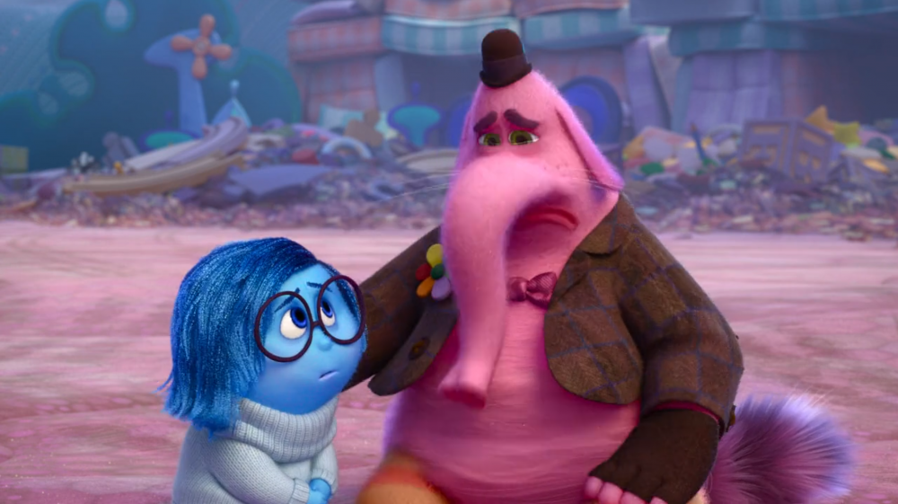 Sadness empathizes with Bing Bong - Disney/Pixar's Inside Out
