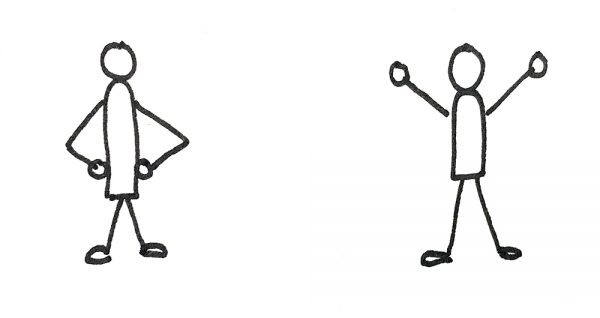 Illustration of power poses