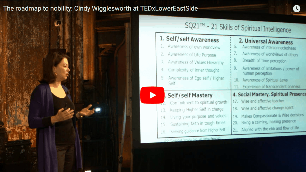 Video of Cindy Wigglesworth at TEDxLowerEastSide