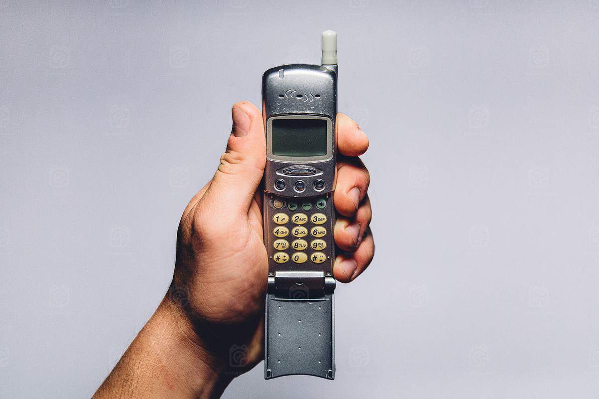 Old mobile phone, Image from Michał Kulesza